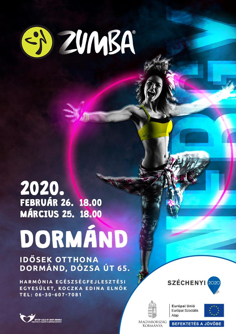 Dormánd – Zumba – 2020. február 26. és március 25.