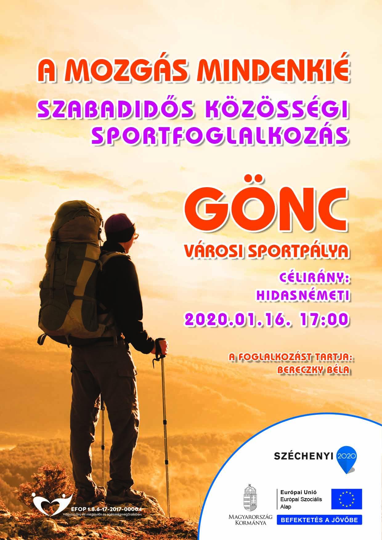 Göncz – Szabadidős közösségi sportfoglalkozás – 2020. január 16.