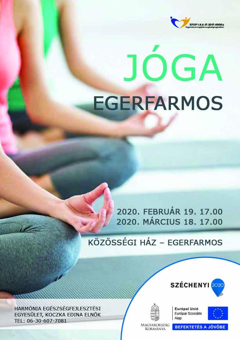 Egerfarmos – Jóga – 2020. február 19 és március 18.