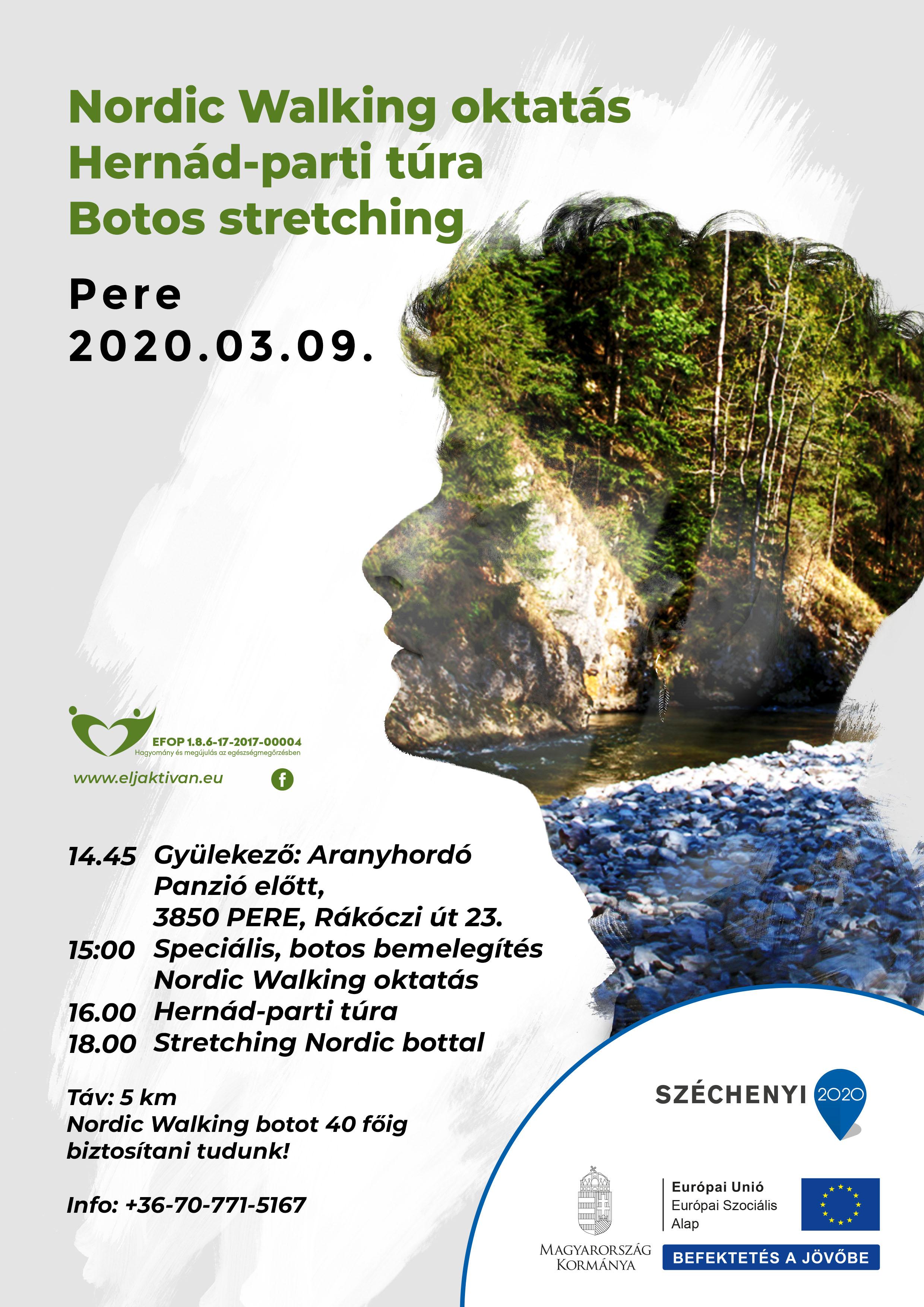 Pere – Nordic Walking Oktatás és Túra – 2020. március 09.