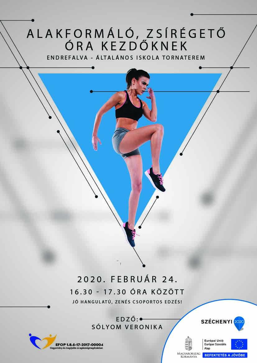 Endrefalva – Alakformáló, zsírégető torna kezdőknek – 2020. február 24.