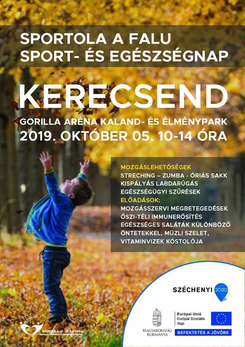 Kerecsend – Sportol a falu – Sport- és egészségnap – 2019. október 05.