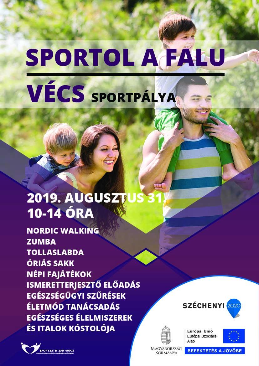 Vécs – Sportol a falu – 2019. augusztus 31.