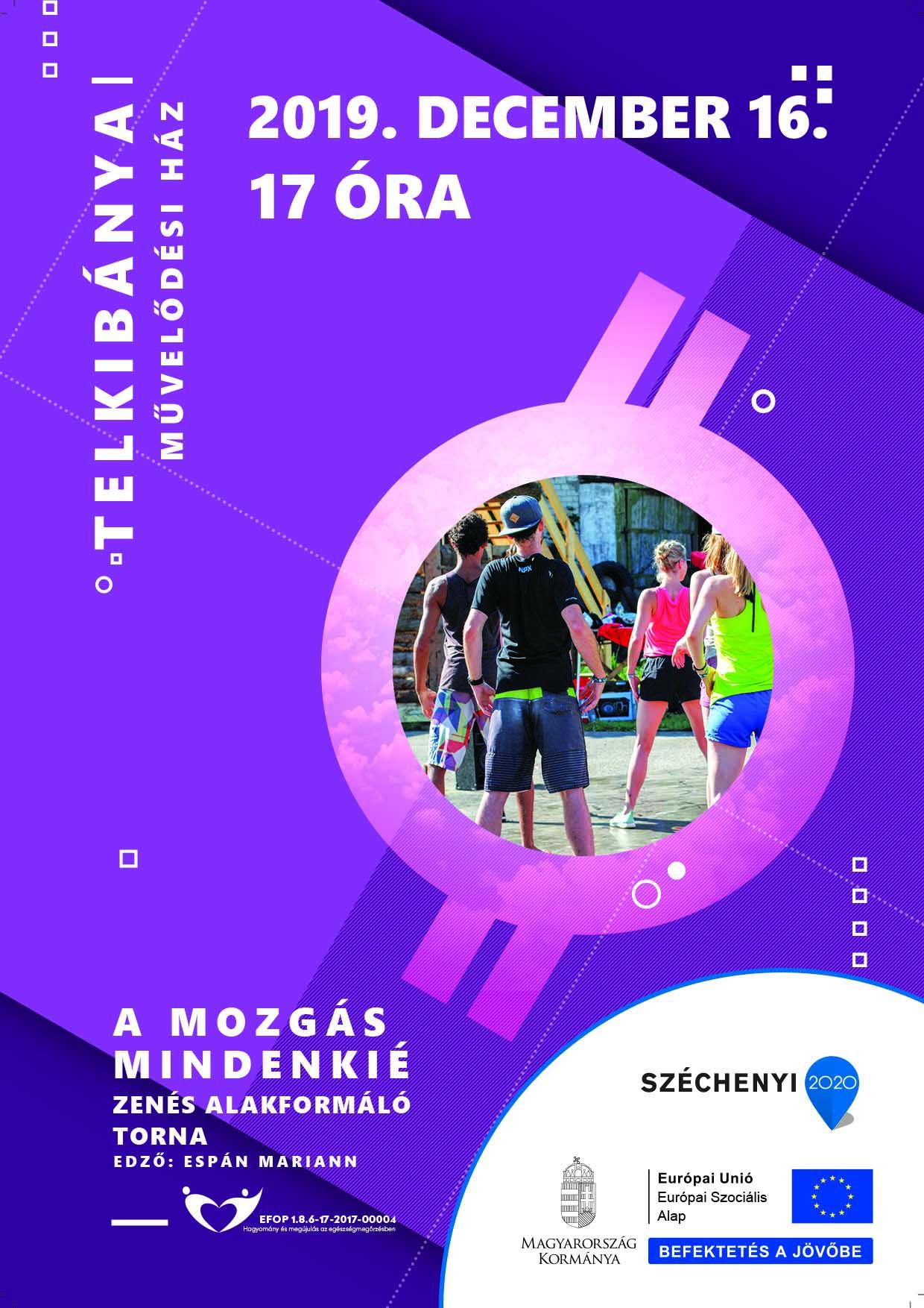 Telkibánya – A mozgás mindenkié – Zenés alakformáló torna – 2019. december 16.