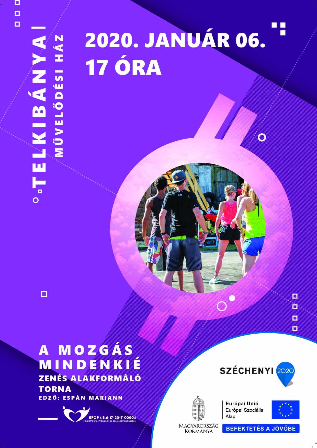 Telkibánya – A mozgás mindenkié – Zenés alakformáló torna – 2020. január 06.